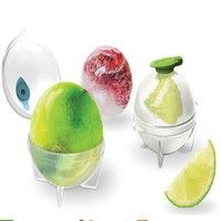 Rounded ice cubes cool drinks without diluting them!