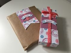 CraftyCarolineCreates: Simple Handmade Paper Bag Gift Bag Using Swirly Bird by Stampin' Up - Video Tutorial