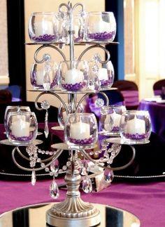 Silver Crystal Centerpiece