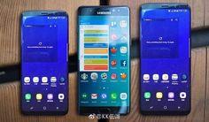 Samsung Galaxy S8 vs. Galaxy S8 vs. Galaxy Note 7 im Größenvergleich