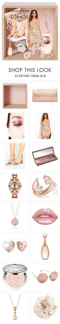 """""""rosalina"""" by dahliadesign ❤ liked on Polyvore featuring Muuto, Steve Madden, Lime Crime, WithChic, Miss KG, Urban Decay, Karl Lagerfeld, Kendra Scott, KJ's Laundry and GUESS"""