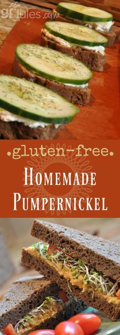 Homemade Gluten Free Pumpernickel Bread gfJules.com