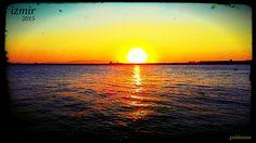 İzmirin güneş batımı.