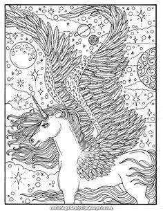 Digital Coloring E-book Unicorn Goals Magical Fantasy Horse Coloring Pages, Unicorn Coloring Pages, Fairy Coloring, Cute Coloring Pages, Flower Coloring Pages, Coloring Pages To Print, Coloring Books, Kids Coloring, Coloring Pages For Grown Ups