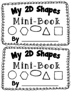 "This Common Core aligned 2D Shape Mini Book will make a fabulous addition to your 2D shape activities! Students will love identifying and sorting the shapes. They will also use their descriptive writing skills to describe and identify each shapes attributes.In each individual mini-book you will find:*""My 2D Shapes Mini-Book"" Cover Page*7 Shape Pages where students will identify and sort the shape and real word example of the shape."