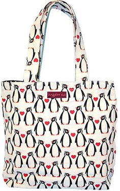 Our cotton penguin tote bag is a great tote to take to the beach, school, shopping, work or anywhere a penguins all over tote bag is needed. A pair of sturdy straps will make sure you can carry your g