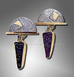 Bernardine Fine Art Jewelry - drusy earrings