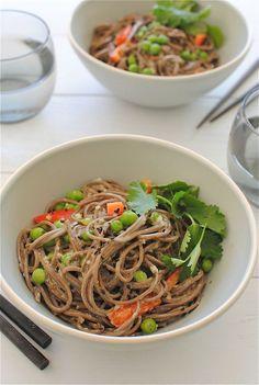 Coconut Soba Noodle Bowls / Bev Cooks
