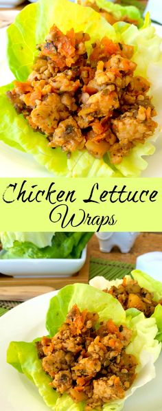 Chicken Lettuce Wraps ~ Ground Chicken with Asian spices and sauce with veggies served in your favorite leafy green. ~ The Complete Savorist