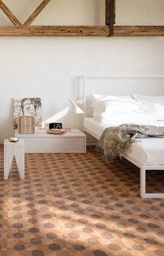 Cement, cotto and natural stones for new ceramic #tiles - Ceramica Fondovalle presents its new collections at Cersaie 2014 #bedroom