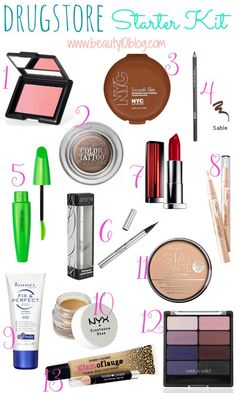 Get these at a drug store plus a really cute make up pouch and use it as an emergency makeup kit or to go makeup kit Beauty Make-up, Beauty Secrets, Beauty Hacks, Beauty Tips, Beauty Products, Beauty Essentials, Travel Essentials, Beauty Ideas, Makeup Products
