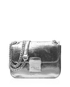 263c017e31 MICHAEL Michael Kors Sloan Editor Medium Embossed Metallic Chain Shoulder  Bag Handbags - Bloomingdale s