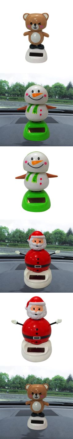 Christmas Solar Powered Dancing Shaking Head Cartoon Animal Automobile Car Dashboard Decoration Ornament Cute Car Accessories .