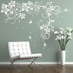 Butterfly Vine Corner Flower Wall Stickers Tree Wall Decals bedroom background Decorative Art Mural Home Decor Wall Stickers Birds, Butterfly Wall Decals, Butterfly Wall Stickers, Wall Stickers Home Decor, Flower Decals For Walls, Decorative Stickers, Contemporary Wall Stickers, Family Tree Wall Sticker, Wall Decals For Bedroom