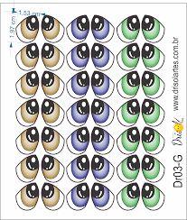 Image result for moldes de olhos para bonecas e animais