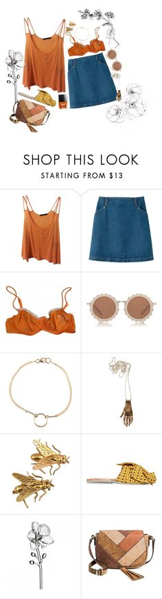 """""""#935"""" by claramsouza ❤ liked on Polyvore featuring Brandy Melville, A.P.C., Sonia Rykiel, Butter London, House of Holland, Dogeared, Boucheron, Brother Vellies, Waterford and Merona"""