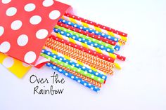Over the Rainbow Paper Straws