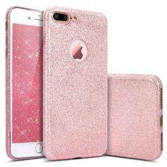 iPhone 7 Plus Case, PHEZEN iPhone 7 Plus Makeup Series Bling Luxury Glitter Cover, Fashion Shinning Protective Bumper Sparkle Soft Rubber Flexible TPU Back Case for iPhone 7 Plus 2016 (Rose Gold)