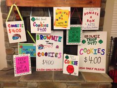 Girl Scout Cookie Booth Signs
