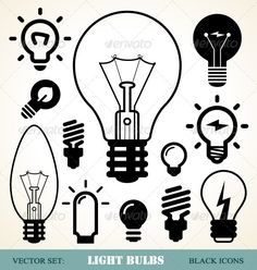 Light Bulbs Symbols #GraphicRiver Various light bulbs symbols. Vector set. Zip file included EPS8 (editable) and JPG (high resolution) Created: 11May13 GraphicsFilesIncluded: JPGImage #VectorEPS Layered: Yes MinimumAdobeCSVersion: CS Tags: LightBulbs #black #bright #bulb #concept #creative #designelements #efficient #electric #energy #fluorescentlight #icon #idea #illumination #inspiration #lamp #light #luminance #power #set #symbol #variation