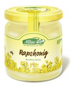 ALLOS bio miód RZEPAKOWY 500g ekosklepkrainazdrowia.pl Honey