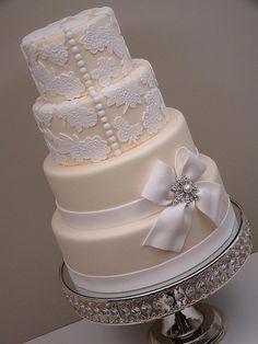 Lace wedding cake! Beautiful! @Laura Jayson Neubauer