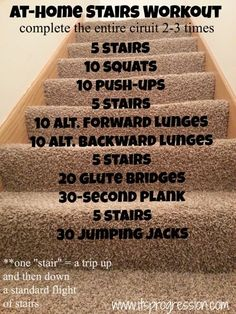 At-Home Stairs Workout. Work those legs!