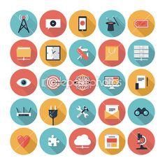 SEO and web icons set — Vector de stock #36190333