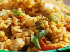Chicken Jambalaya from FoodNetwork.com I made this last night and it was very yummy and super easy! The best part is that it makes not one but two Round 2 recipes! So you cook once and get another dinner with very little effort or money! LOVE THAT!