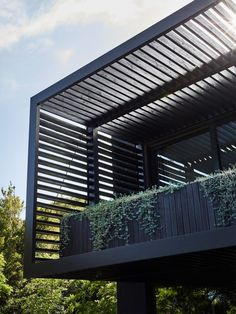Pergola With Retractable Canopy Kit Code: 1589455407 Door Design, Exterior Design, 3 Storey House Design, Shade Screen, Australia House, Shade House, Dark House, Balcony Design, Patio Roof