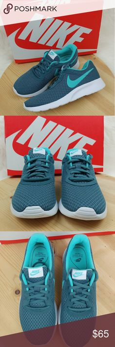 Nike Tanjun Iced Jade Aurora Green-White sneakers New comes with box. Nike Tanjun Iced Jade/ Aurora Green-White Teal sneakers Womens size 8 25 cm Nike Shoes Athletic Shoes