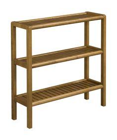 Abingdon Solid Birch Wood 3-Shelf Console / Shoe Rack