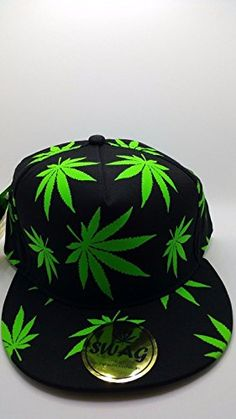 Swag Marijuana Weed Adult Adjustable Snapback Cap Glow in the Dark Baseball Cap Hat