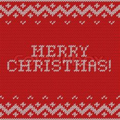 Card of Merry Christmas 2015 with knitted texture. Vector stock vector
