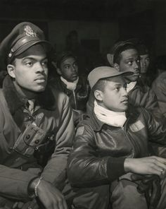 Tuskegee Airmen 332nd true heroes. Fighter Group pilots who fought Nazis for America in WWII.