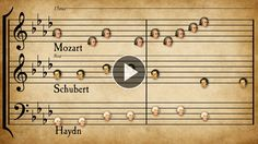"""57 famous classical tunes by 33 composers woven together . How many can you identify?  Solution:  Mozart Eine Kleine Nachtmusik K525 0:01 Haydn Symphony 94 """"Surprise"""" II 0:01 Beethoven Symphony 9 IV (Ode to Joy) 0:06 Mendelssohn Wedding March in Midsummer Night's Dream, sec"""