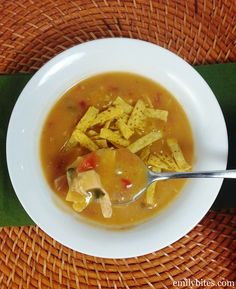 Emily Bites - Weight Watchers Friendly Recipes: Chicken Tortilla Soup