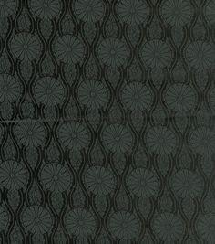 Brocade Fabric- Black Daisy Medallion: special occasion fabric: apparel fabric: fabric: Shop | Joann.com