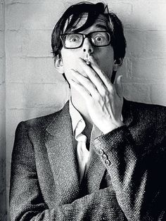 Jarvis Cocker. He's super cool--he looks like a cross between David Tennant and Mr. G of Summer Heights High here.