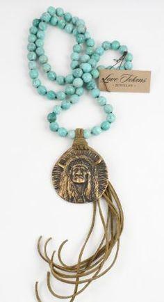 Love Tokens Bronze Buffalo Chief Necklace