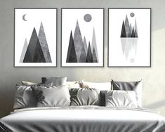 Art you print yourself by UrbanEpiphanyPrints Minimalist Poster, Black And White, Bedroom Ideas, Prints, Printable, Posters, Decor Ideas, Mountains, Home Decor
