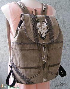 Nagy méretű csipkés hátizsák  újrahasznosított farmerből (Lintu) - Meska.hu Backpacks, Bags, Fashion, Handbags, Moda, Fashion Styles, Backpack, Fashion Illustrations, Backpacker