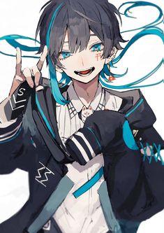 Anime Demon Boy, Dark Anime Guys, Cool Anime Guys, Cute Anime Boy, Anime Angel, Anime Boys, Anime Neko, Fanarts Anime, Kawaii Anime