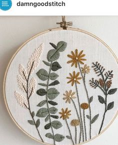 (notitle) Hand Made , (notitle) Embroidery. Embroidery On Clothes, Modern Embroidery, Embroidery Hoop Art, Crewel Embroidery, Cross Stitch Embroidery, Embroidery Stitches Tutorial, Hand Embroidery Patterns, Bordado Floral, Creations