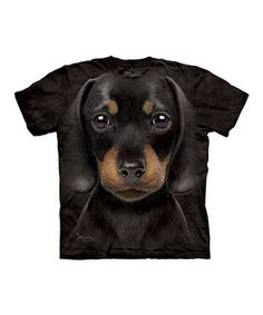 The Mountain Black Dachshund Puppy Tee - Toddler, Kids, Adult & Plus by The Mountain #zulily #zulilyfinds
