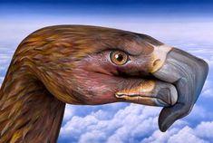 dibujo águila maquillaje manos