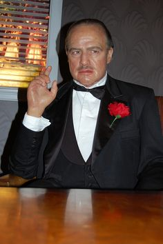 Marlon Brando, The Godfather - Madame Tussauds Wax museum, Hollywood (the lighting is bad in the picture, this is definitely a very much captures the movie character) Face Change, Cinema, Wax Museum, Madame Tussauds, Marlon Brando, Famous Celebrities, The Godfather, Movie Characters, Famous People