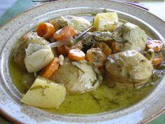 artichokes a la polita.  Greek side dish w/ artichokes!  #vegan