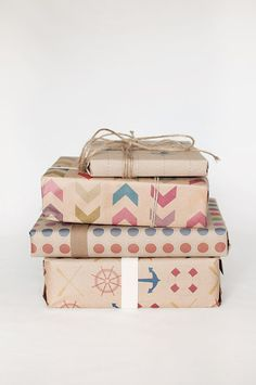 3 Sheets  Pick and Mix  Wrapping Paper by ToodlesNoodles on Etsy, $22.00