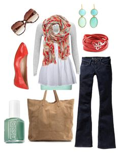 """teal & red"" by htotheb ❤ liked on Polyvore featuring MANGO, Old Navy, Zalando, mbyM, Vero Moda, Dolce Vita, Sandra Dini, Essie, Love Peace and Hope and teal"